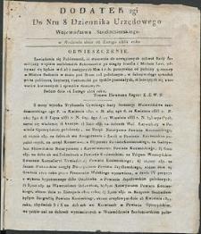 Dziennik Urzędowy Województwa Sandomierskiego, 1834, nr 8, dod. II