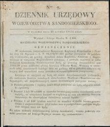 Dziennik Urzędowy Województwa Sandomierskiego, 1834, nr 9