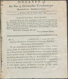 Dziennik Urzędowy Województwa Sandomierskiego, 1834, nr 9, dod. II