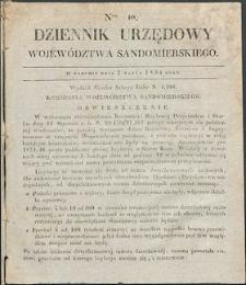 Dziennik Urzędowy Województwa Sandomierskiego, 1834, nr 10