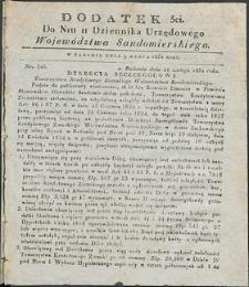 Dziennik Urzędowy Województwa Sandomierskiego, 1834, nr 11, dod. III