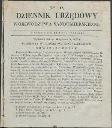 Dziennik Urzędowy Województwa Sandomierskiego, 1834, nr 12, dod. I