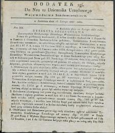 Dziennik Urzędowy Województwa Sandomierskiego, 1834, nr 12, dod. II