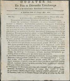 Dziennik Urzędowy Województwa Sandomierskiego, 1834, nr 12, dod. III