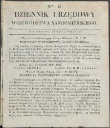 Dziennik Urzędowy Województwa Sandomierskiego, 1834, nr 13