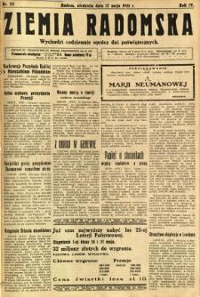 Ziemia Radomska, 1931, R. 4, nr 112