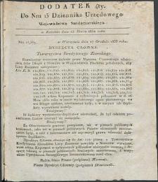 Dziennik Urzędowy Województwa Sandomierskiego, 1834, nr 13, dod. IV