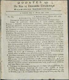 Dziennik Urzędowy Województwa Sandomierskiego, 1834, nr 14, dod. II