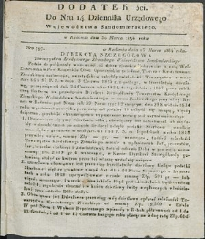 Dziennik Urzędowy Województwa Sandomierskiego, 1834, nr 14, dod. III