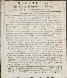 Dziennik Urzędowy Województwa Sandomierskiego, 1834, nr 15, dod. II