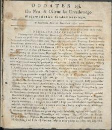 Dziennik Urzędowy Województwa Sandomierskiego, 1834, nr 16, dod. II