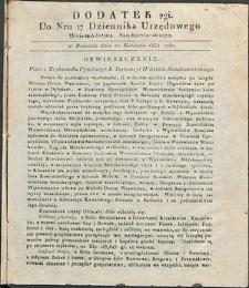 Dziennik Urzędowy Województwa Sandomierskiego, 1834, nr 17, dod. II