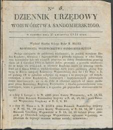 Dziennik Urzędowy Województwa Sandomierskiego, 1834, nr 18