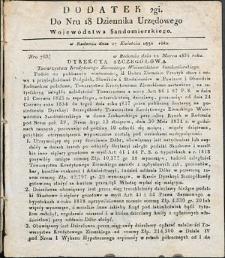 Dziennik Urzędowy Województwa Sandomierskiego, 1834, nr 18, dod. II