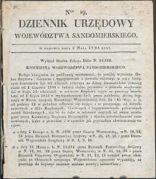 Dziennik Urzędowy Województwa Sandomierskiego, 1834, nr 19