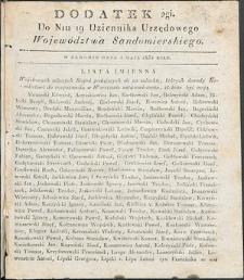 Dziennik Urzędowy Województwa Sandomierskiego, 1834, nr 19, dod. II