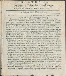 Dziennik Urzędowy Województwa Sandomierskiego, 1834, nr 19, dod. IV