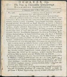 Dziennik Urzędowy Województwa Sandomierskiego, 1834, nr 19, dod. V
