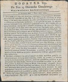Dziennik Urzędowy Województwa Sandomierskiego, 1834, nr 19, dod. VI