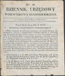 Dziennik Urzędowy Województwa Sandomierskiego, 1834, nr 20