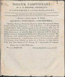 Dziennik Urzędowy Województwa Sandomierskiego, 1834, nr 20, dod. nadzwyczajny