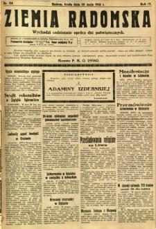 Ziemia Radomska, 1931, R. 4, nr 114
