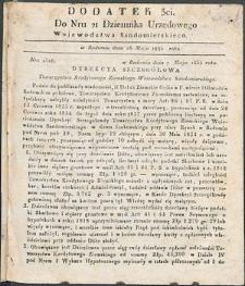 Dziennik Urzędowy Województwa Sandomierskiego, 1834, nr 21, dod. III