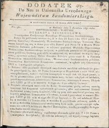 Dziennik Urzędowy Województwa Sandomierskiego, 1834, nr 21, dod. IV
