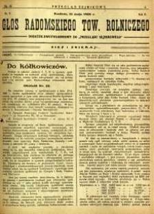 Przegląd Sejmikowy : Urzędowy Organ Sejmiku Radomskiego, 1926, R. 5, nr 18, dod.