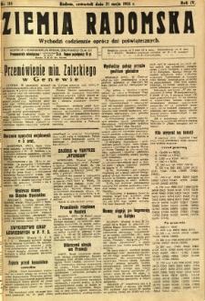 Ziemia Radomska, 1931, R. 4, nr 115