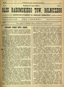 Przegląd Sejmikowy : Urzędowy Organ Sejmiku Radomskiego, 1926, R. 5, nr 20, dod.