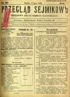 Przegląd Sejmikowy : Urzędowy Organ Sejmiku Radomskiego, 1926, R. 5, nr 26