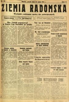 Ziemia Radomska, 1931, R. 4, nr 116