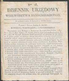 Dziennik Urzędowy Województwa Sandomierskiego, 1834, nr 23
