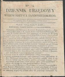 Dziennik Urzędowy Województwa Sandomierskiego, 1834, nr 24, dod. I