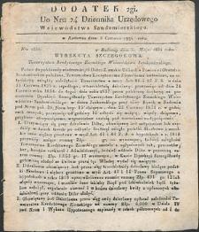 Dziennik Urzędowy Województwa Sandomierskiego, 1834, nr 24, dod. II