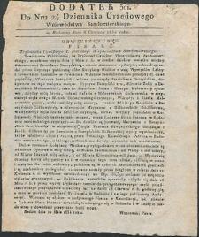 Dziennik Urzędowy Województwa Sandomierskiego, 1834, nr 24, dod. III