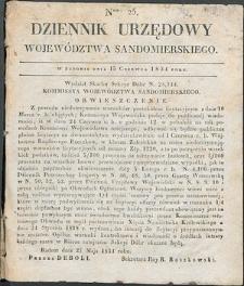 Dziennik Urzędowy Województwa Sandomierskiego, 1834, nr 25, dod. I