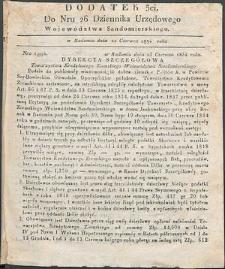 Dziennik Urzędowy Województwa Sandomierskiego, 1834, nr 26, dod. III