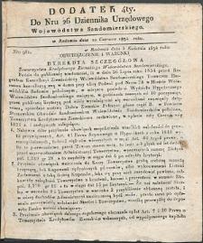 Dziennik Urzędowy Województwa Sandomierskiego, 1834, nr 26, dod. IV