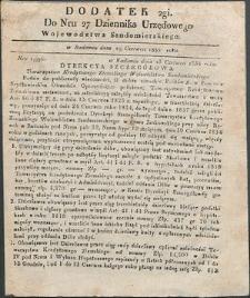 Dziennik Urzędowy Województwa Sandomierskiego, 1834, nr 27, dod. II