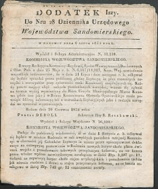 Dziennik Urzędowy Województwa Sandomierskiego, 1834, nr 28, dod. I