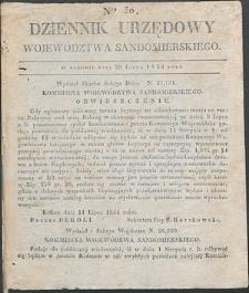 Dziennik Urzędowy Województwa Sandomierskiego, 1834, nr 30