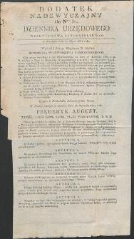 Dziennik Urzędowy Województwa Sandomierskiego, 1834, nr 30, dod. nadzwyczajny