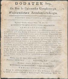 Dziennik Urzędowy Województwa Sandomierskiego, 1834, nr 32, dod. I