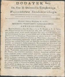 Dziennik Urzędowy Województwa Sandomierskiego, 1834, nr 33, dod. I