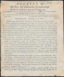 Dziennik Urzędowy Województwa Sandomierskiego, 1834, nr 33, dod. II