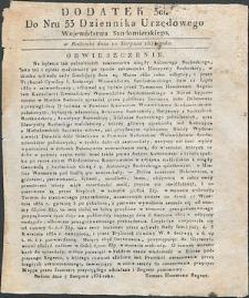 Dziennik Urzędowy Województwa Sandomierskiego, 1834, nr 33, dod. III
