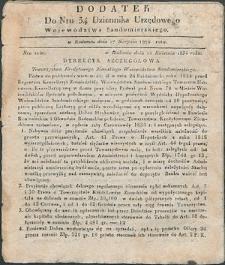 Dziennik Urzędowy Województwa Sandomierskiego, 1834, nr 34, dod. I