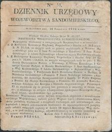 Dziennik Urzędowy Województwa Sandomierskiego, 1834, nr 35